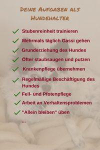 ToDo-Liste Hund